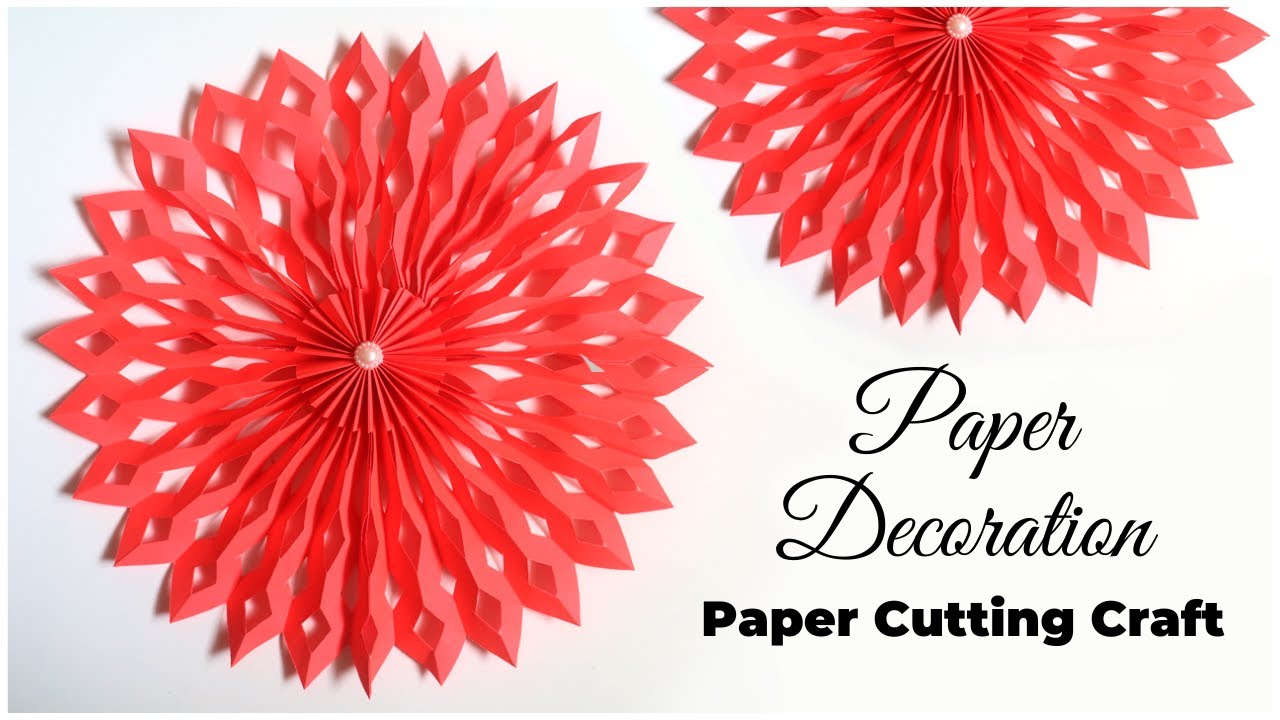 DIY Paper Decorations   Paper Cutting Craft   Paper Snowflake