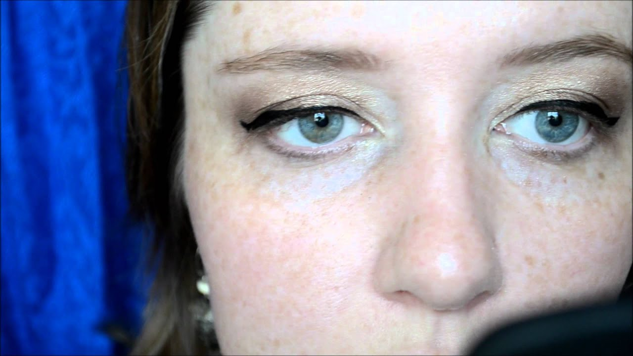 liquid winged liner for hooded / mature eyes using nyx super fat eye