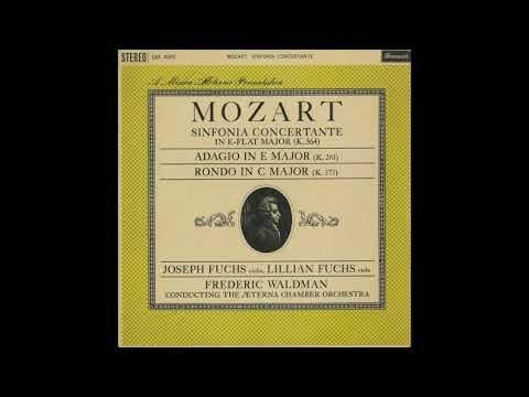 Silent Tone Record/モーツァルト:協奏交響曲,ヴァイオリンと管弦楽のためのアダージョ,ロンド/ジョセフ・フックスリリアン・フックスフレデリック・ウォルドマン指揮エテルナ管弦楽団