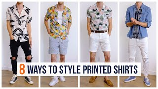 How to Style Printed Shirts for Summer   Men's Fashion   Outfit Inspiration