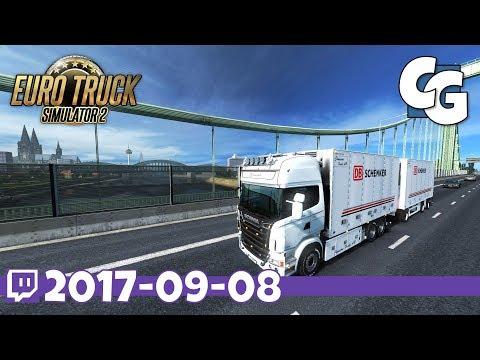 Euro Truck Simulator 2 - VOD - 2017-09-08 - Scania RJL + Bussbygg Tandem- ETS2 ProMods 2.20 Gameplay