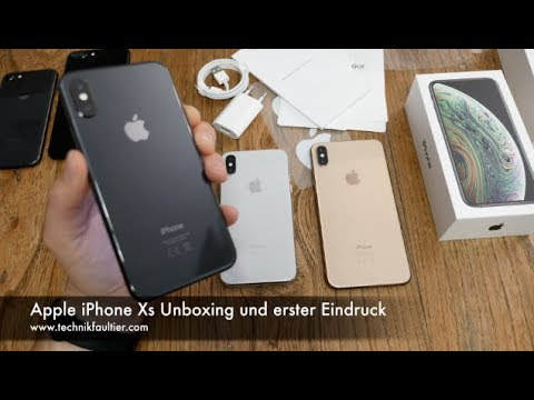 apple iphone xs unboxing und erster eindruck youtube. Black Bedroom Furniture Sets. Home Design Ideas