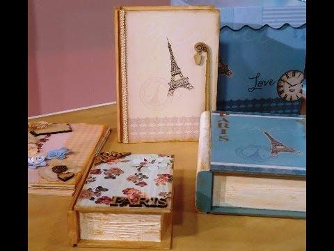 Como hacer cajas con las nuevas l minas hd youtube - Como decorar cajas de madera paso a paso ...