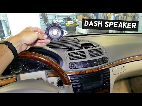 HOW TO REMOVE AND REPLACE CENTER DASH SPEAKER ON MERCEDES
