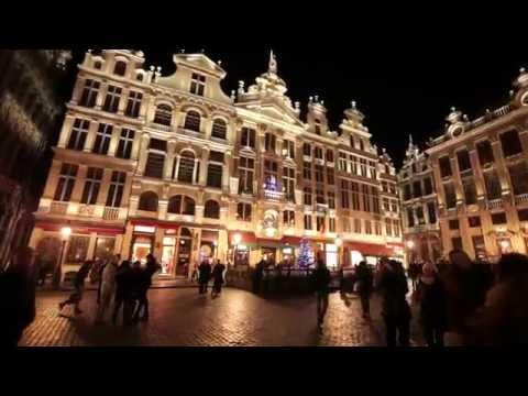 Dynamische verlichting voor de Grote Markt in Brussel - YouTube