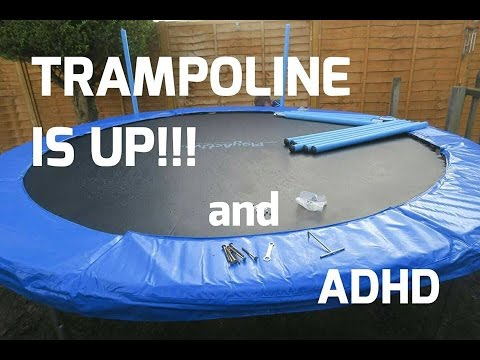 10ft Trampoline Is Up Child With Adhd Youtube