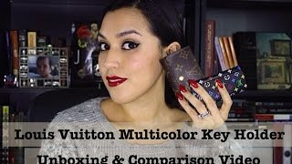 Louis Vuitton Multicolor 4 Ring Key Holder Unboxing & 6 Ring Key Holder Comparison