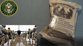 ИРП Армии США меню 7 Сухпай MRE USA ARMY MENU 7 Brisket Entree Beef Brisket Slices