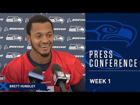 Seahawks Quarterback Brett Hundley Week 1 Press Conference