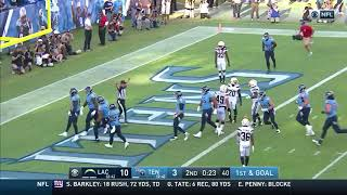 Ryan Tannehill connects with Corey Davis Chargers Vs Titans