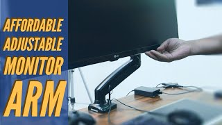 Affordable Adjustable Monitor Arm Unboxing And Review Zipp Full Motion Monitor Desk Mount Youtube