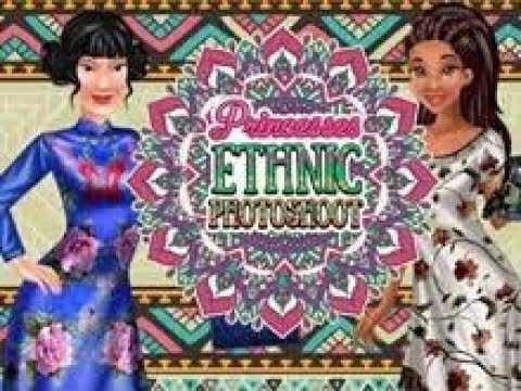 Dress Up Games For Girls -  Princesses Ethnic Photoshoot