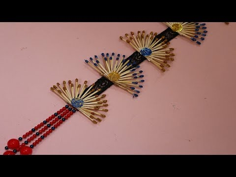 WOW! Innovative idea of matchstick | Make wall showpiece from matchstick - Matchstick Craft Tutorial
