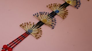 WOW! Innovative idea of matchstick | Make wall showpiece from matchstick - Matchstick Craft Tutorial