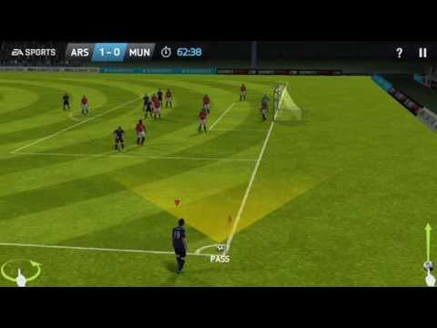 FiFa 14 Android Gameplay (Arsenal Vs  Manchester United)