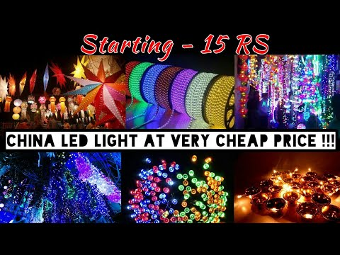 Diwali led light at very cheap price in mumbai | diwali decoration light |led light in manish market