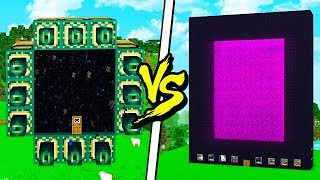 ENDER PORTAL HOUSE vs NETHER PORTAL HOUSE! - MINECRAFT