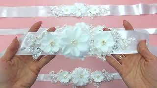 Как сделать пояс для свадебного и вечернего платья. Выпуск №18