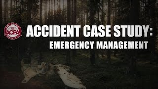 Accident Case Study - Emergency Management