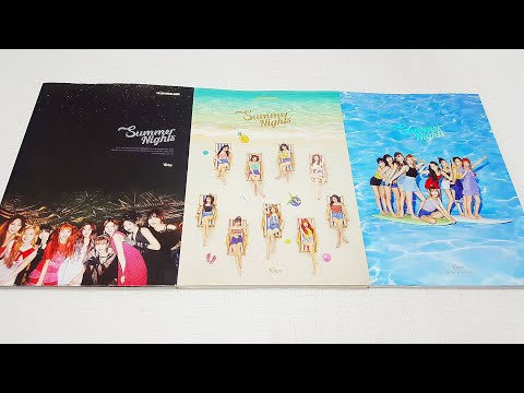 Unboxing TWICE 트와이스 2nd special album Summer Nights 앨범 언박싱/ 후기