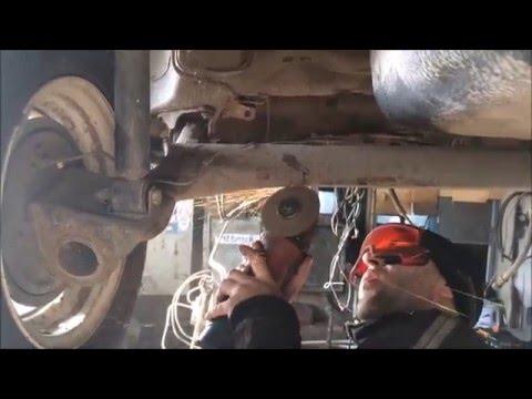 ремонт задней балки переднеприводного автомобиля