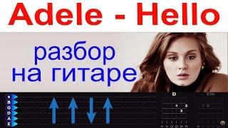 Adele - Hello. Разбор на гитаре. Для начинающих