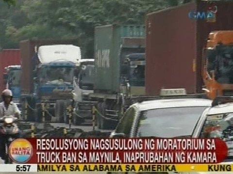 UB: Resolusyong nagsusulong ng moratorium sa truck ban sa Maynila, inaprubahan ng Kamara