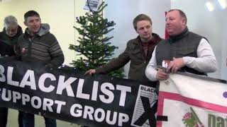 UNITE Blacklisting Day of Action: Workers Occupy Skanska HQ in London
