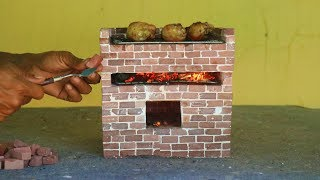 make an Amazing Mini Barbecue with Mini bricks To Cook Chicken thighs