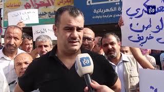 المتقاعدون العسكريون ينفذون وقفة احتجاجية في اربد والطفيلة  (8/11/2019)