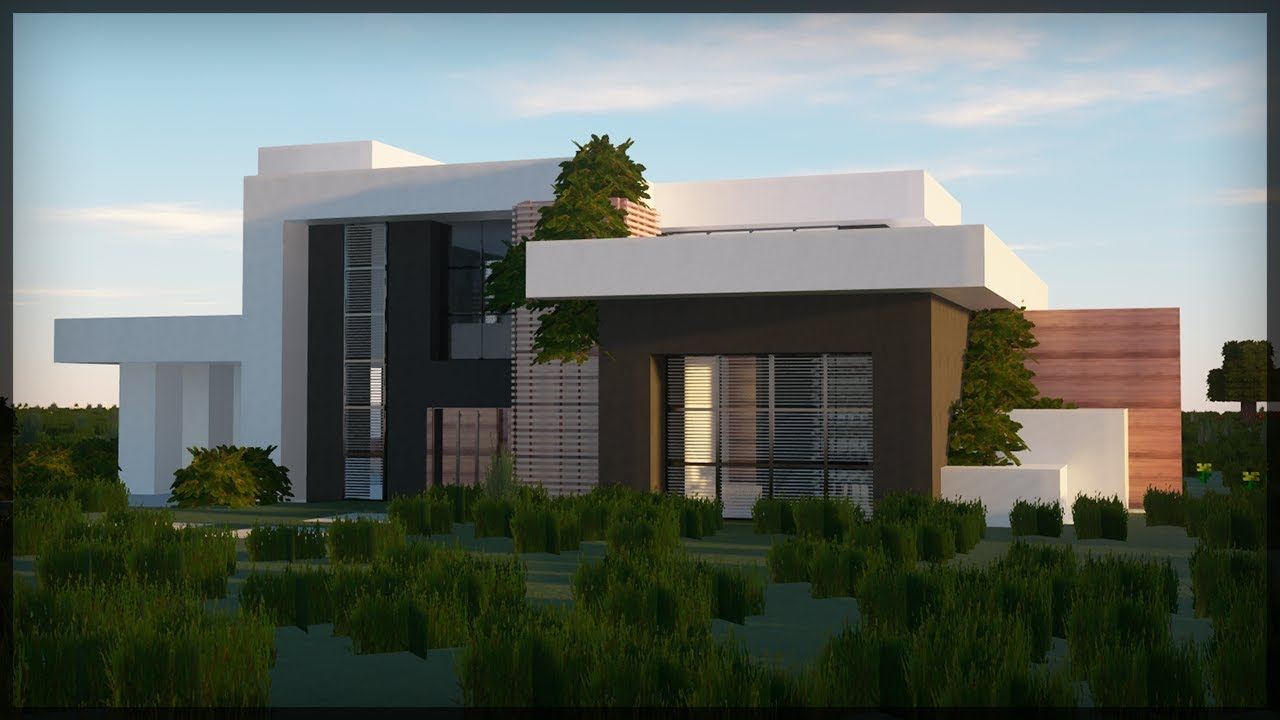 ✔ BUILDING MINECRAFT MODERN HOUSE! - Realistic RayTracing 11 GRAPHICS!