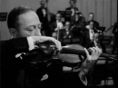 Jascha Heifetz plays Tchaikovsky Violin Concerto: 1st mov.