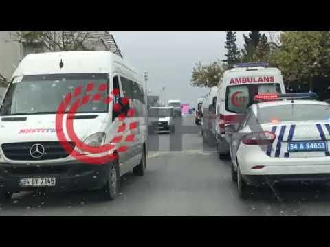Şehitlerin cenazeleri konvoy eşliğinde hastaneye getirildi