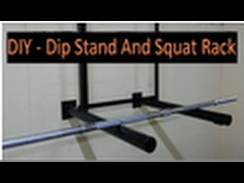 Diy dip stand and squat rack youtube for Diy squat stands