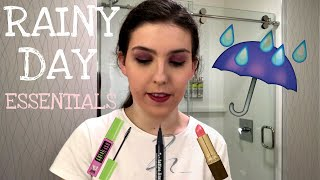 RAINY DAY MAKEUP ROUTINE! Get Ready With Me & Beauty Essentials! A Rainy Day Makeup Look/Glow-Up