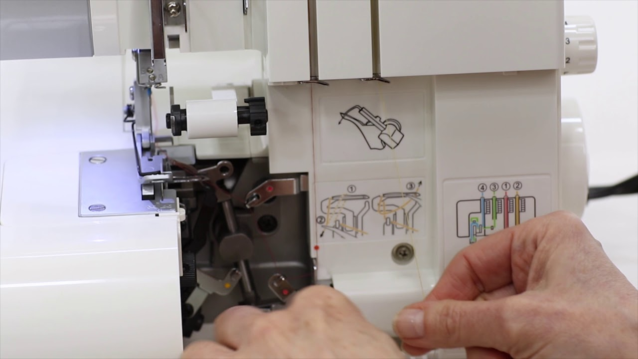 Threading A 3 Thread Serger Overlock Wide Singer 14cg754 Youtube This Is How The Machine Should Be Threaded