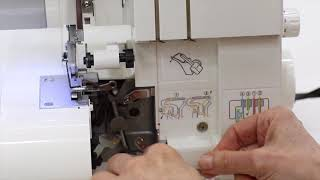 Threading a 3 Thread Serger Overlock Wide - SINGER...