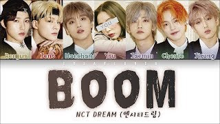 NCT DREAM (엔시티드림) — 'BOOM' (7 Members ver.) (Color Coded Lyrics Han|Rom|Eng)