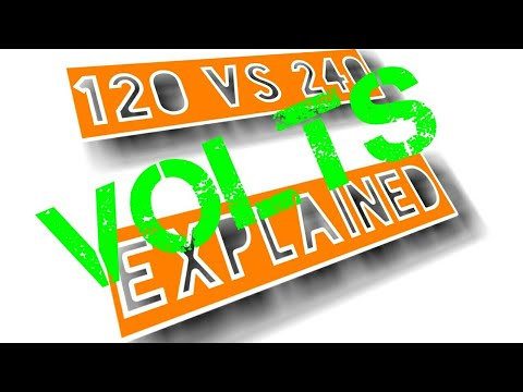 Difference between 120 volts & 240 volts simple explanation.