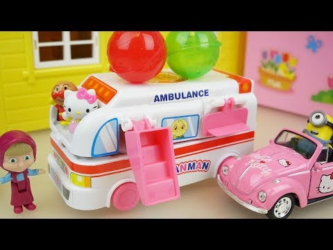 Thumbnail: Hello kitty and Ambulance surprise eggs car toys play