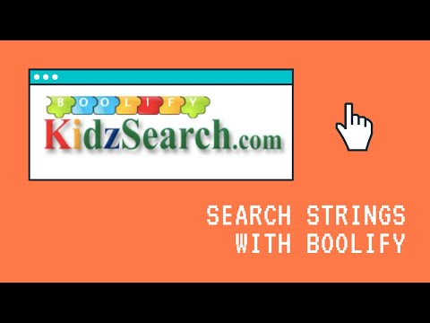 Boolify: How to Create Search Strings