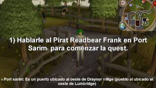 Guia para hacer la quest (mision) Pirate's treassure [Spanish] - Runescape