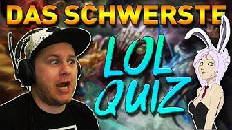 DAS SCHWERSTE LOL QUIZ ! Zum mitmachen - German Deutsch Teste dich League of Legends
