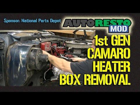 1967 Camaro heater box removal how to Episode 224 Autorestomod - YouTube