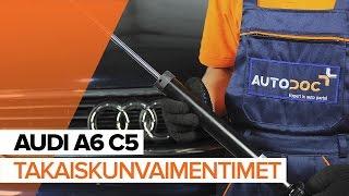 Kuinka vaihtaa Takaiskunvaimennin ja etuiskunvaimennin AUDI A6 Avant (4B5, C5) - ilmaiseksi video verkossa
