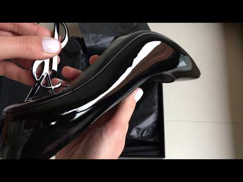Saint Laurent opyum pump in black patent leather and chrome unboxing