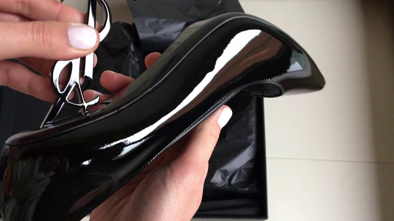 4e89119c6a34 Saint Laurent opyum pump in black patent leather and chrome unboxing ...
