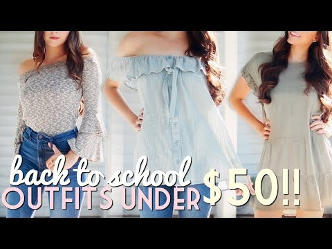 Back to School Outfits Under $50!! TRY ON HAUL!