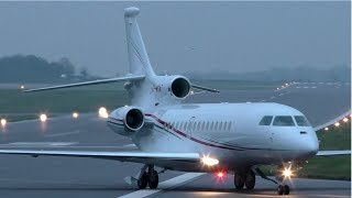 Government of Monaco Dassault Falcon 8X 3A-MGA at Cambridge Airport