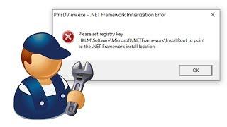 How to Fix .NET Framework Initialization Error